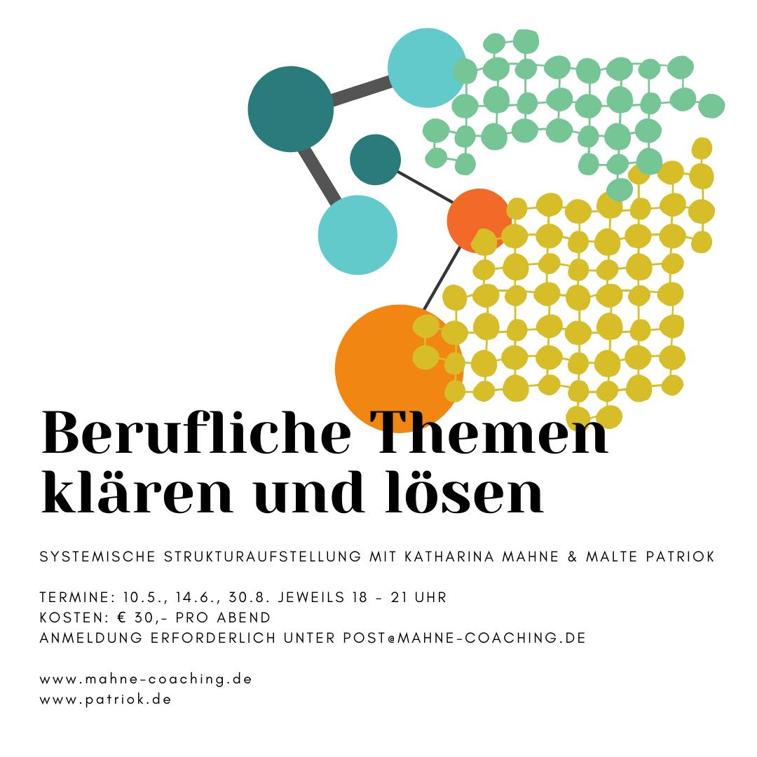 Systemische Strukturaufstellung zur Klärung beruflicher Themen mit Katharina Mahne und Malte Patriok